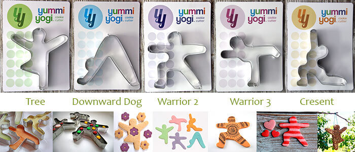Yummi Yoga Cookie Shape Cutters
